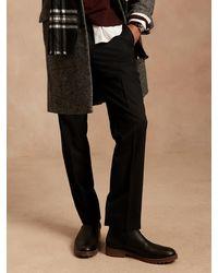 Banana Republic Slim Solid Italian Wool Suit Pant - Black