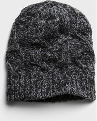 Banana Republic - Italian Wool-blend Cable-knit Beanie - Lyst