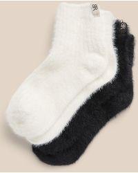 Banana Republic Fuzzy Ankle Sock 2-pack - Black