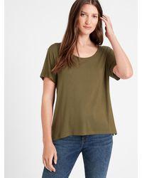 Banana Republic Threadsoft Scoop-neck T-shirt - Green
