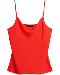 Banana Republic Cowl-neck Camisole - Red