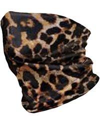Banana Republic Leopard Stretch Gaiter - Black