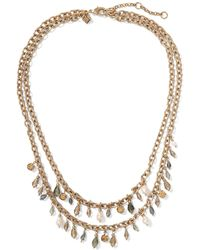Banana Republic - Stone Bead & Pearl Necklace - Lyst