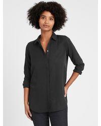 Banana Republic Parker Tunic-fit Shirt - Black