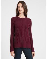 Banana Republic Chunky Cable-knit Sweater - Purple