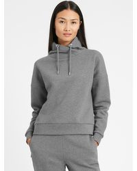 Banana Republic Funnel-neck Sweatshirt - Gray
