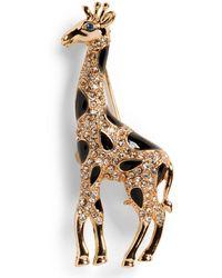 Banana Republic Giraffe Brooch - Metallic