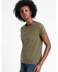 Banana Republic Supima® Cotton Crew-neck T-shirt - Green