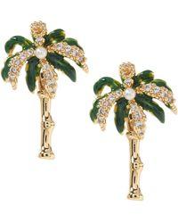 Banana Republic - Palm Tree Stud Earrings - Lyst