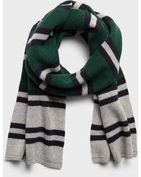 Banana Republic Birdseye Stripe Wool-blend Scarf - Green