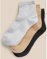 Banana Republic Metallic Ankle Sock 3-pack