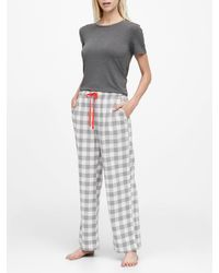 Banana Republic Flannel Pajama Pant - Gray