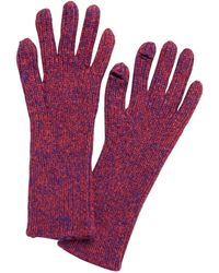Banana Republic Ribbed Knit Texting Gloves - Purple
