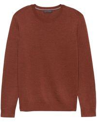 Banana Republic - Italian Merino Crew-neck Sweater - Lyst
