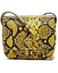 Banana Republic Mini Leather Saddle Bag - Yellow