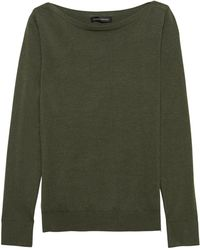 Lyst - Banana Republic Stretch-cotton Boat-neck Sweater in Blue 8f2c9d940