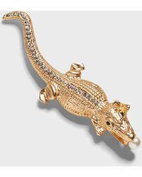 Banana Republic Alligator Brooch - Metallic