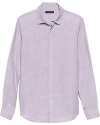 Banana Republic Slim-fit Linen Shirt - Purple