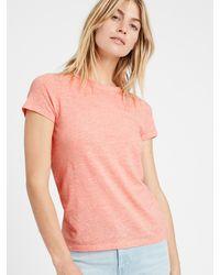 Banana Republic Slub Cotton-modal Crew-neck T-shirt - Pink