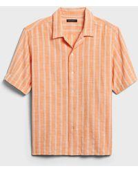 Banana Republic Relaxed-fit Resort Shirt - Orange