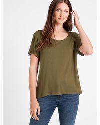 Banana Republic Petite Threadsoft Scoop-neck T-shirt - Green