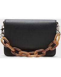 Banana Republic Crossbody Bag With Chain - Black