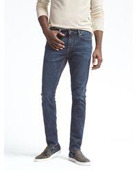 Banana Republic Skinny Rapid Movement Denim Medium Wash Jean - Blue