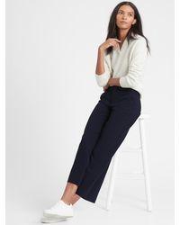 Banana Republic Slim Wide-leg Cropped Pant - Blue