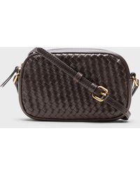 Banana Republic Woven Leather Crossbody Bag - Brown