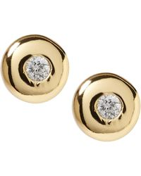 Banana Republic - Everyday Luxuries 14k Gold-plated Cz Stud Earring - Lyst