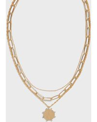 Banana Republic Multi Layer Pendant Necklace - Metallic