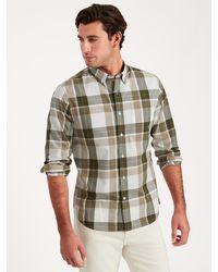 Banana Republic Untucked Slim-fit Organic Cotton Shirt - Green