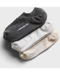 Banana Republic Cable-knit No Show Sock 3-pack - Multicolor