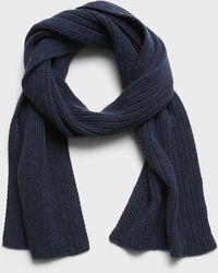Banana Republic Donegal Wool-blend Scarf - Blue