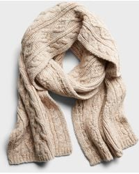 Banana Republic - Italian Wool-blend Cable-knit Scarf - Lyst