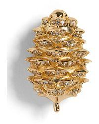 Banana Republic Pinecone Brooch - Metallic