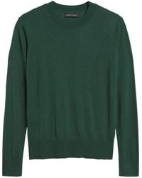 Banana Republic Silk Cashmere Relaxed Sweater - Green
