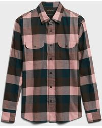 Banana Republic - Untucked Slim-fit Flannel Shirt - Lyst