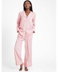 Banana Republic Petite Organic Cotton Pajama Pant Set - Pink