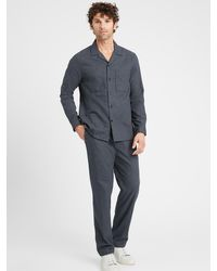 Banana Republic Core Temp Pajama Pant - Blue