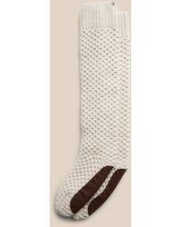 Banana Republic Merino Popcorn-stitch Tall Slipper Socks - Natural