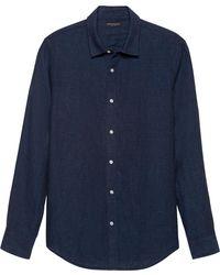 Banana Republic Slim-fit Linen Shirt - Blue