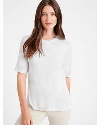 Banana Republic Threadsoft Elbow-sleeve T-shirt - White