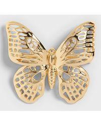 Banana Republic Butterfly Brooch - Metallic