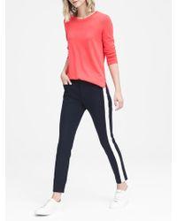 Banana Republic - Petite Sloan Skinny-fit Side-stripe Ankle Pant - Lyst