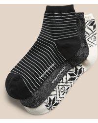 Banana Republic Fairisle Ankle Sock 3-pack - Black