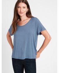 Banana Republic Threadsoft Scoop-neck T-shirt - Blue