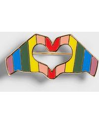 Banana Republic Pride Heart Brooch - Multicolor