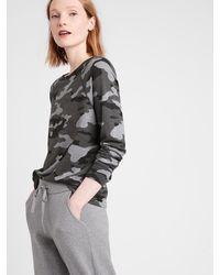 Banana Republic Slub Cotton-modal Raglan T-shirt - Gray