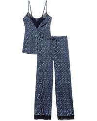 Cosabella Ryleigh Cami & Pant Set - Blue